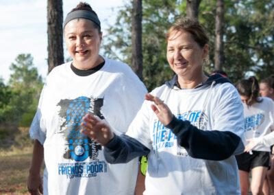 Two Women Starting Their Walk