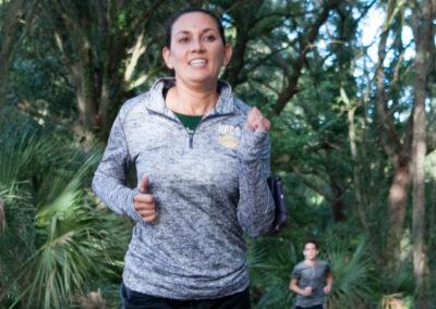 Girl Running Strong