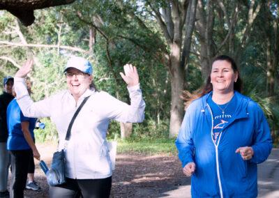 Two Women Enjoying Their Run